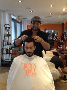 Rocco y Aaron Diaz en @RoccoDonna #Hairstyle #Hair #Hair Style #Fashion #Beauty #Miami #Miami Beach #LeonardoRocco #RoccoDonna #Salon #AaronDiaz