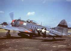 "Republic P-47D-28-RA Thunderbolt color photo, 56 fighter group Nose Art ""Pat"",  code UN+V 42-28543"