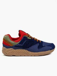 Saucony X Bodega Elite Grid 9000 Polka Dot Sneakers | oki-ni