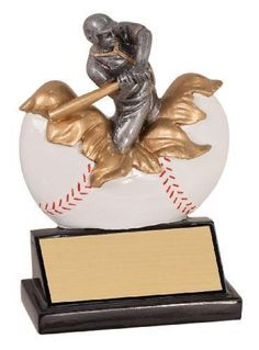 Baseball Explosion Resin Trophy - love it!!