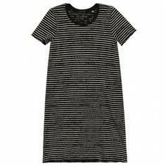 DESTROYED STRIPE T-SHIRT DRESS
