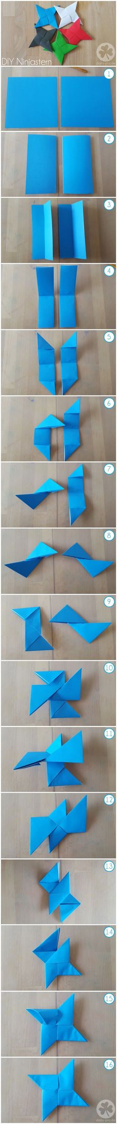 Lego Ninjago Geburtstag DIY instructions ninja star / throwing star made of paper (origami) for a ni Lego Ninjago, Ninjago Party, Lego Lego, Lego Batman, Ninja Turtle Party, Ninja Turtle Birthday, Ninja Turtles, Ninja Birthday Parties, Birthday Fun