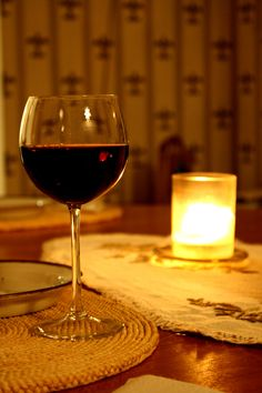 a spicy Zinfandel, a candle.... a friend