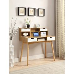 Convenience Concepts Oslo Deluxe Desk with Hutch | Overstock.com Shopping - The…