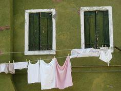 Burano two green shutters