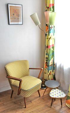 pleasant corner... visit http://www.artisticantichita.com/ FAUTEUIL COCKTAIL DES ANNÉES 50