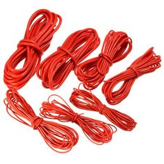 2pcs 3M 18 Gauge AWG Silicone Rubber Wire Cable Red Black Flexible ...