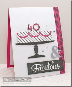 Cheetah Background, Simply Fabulous Sayings, Ampersand Die-namics, Magical Memories - Barbara Anders #mftstamps
