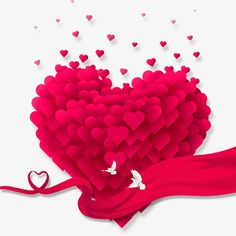 Love, Heart-shaped, Pink PNG and PSD