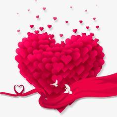 EM forma de coração,O Amor,Cor - de - Rosa,Pomba Branca,FITA