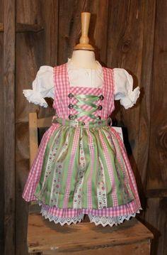 KIDSTRACHT Kinderdirndl Dirndl Trachtenkleid Babydirndl Festkleid Gr 68-164 rosa | eBay