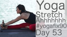 Yoga to Stretch Ahhhhhhh Day 53 Yoga Fix 90  with Lesley Fightmaster