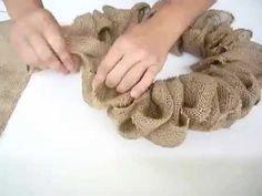 easiest burlap wreath ever, crafts, wreaths