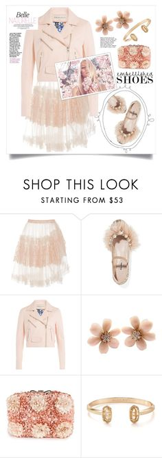 """Embellished Ballerina Shoes"" by lvfever ❤ liked on Polyvore featuring Rodarte, Miu Miu, Emilio Pucci, Van Cleef & Arpels, Darling, Kendra Scott, ballerina and embellishedshoes"