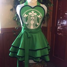 Starbucks Apron One of a kind for the true coffee lover! This is a made to order apron. It's all 100% cotton and the logo is sparkly white. BBecker Designs Accessories