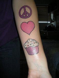 Faites l'amour et des cupcakes