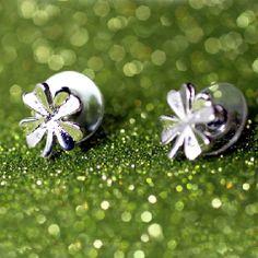 Girlzlyfe.Com - Tiny Four Leaf Clover Stud Earrings, $6.99