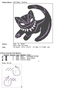 #223 BOGO FREE! Superheroes Marvel Black Panther movie comic characters Cross Stitch Pattern - pdf pattern instant download For your consideration is a beautiful counted cross stitch pattern/chart as shown in the picture. Pattern Details: This pattern is in PDF format and consists
