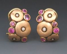R.W. Wise Product Listing: 18k Pink Orchard Earrings