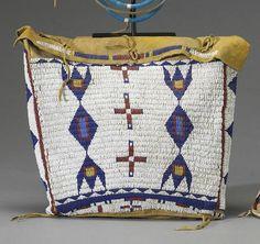 A Sioux beaded bag