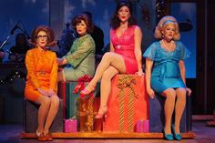 """Production pic of """"Winter Wonderettes"""" with 60's do's. Did we get some of these in the box?"""
