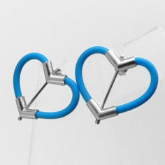 BABA DESIGN rubber and silver heart shape