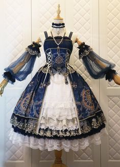 Fashion Vintage The Nine Songs -Crown of The Sea- Vintage Classic Lolita Jumper Dress - Source by corhao fashion dresses Pretty Outfits, Pretty Dresses, Beautiful Dresses, Anime Outfits, Mode Outfits, Scene Outfits, Dress Outfits, Mode Lolita, Cosplay Dress