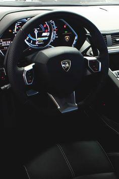 In the cockpit. ~ 50 Stunning Lamborghini Photographs - Style Estate - http://blog.styleestate.com/style-estate-blog/50-stunning-lamborghini-photographs.html