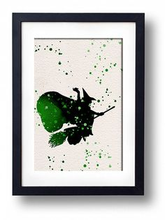 Wizard of Oz Wicked Witch watercolor illustrations by ThunderDoam, $15.00