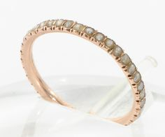 pearl eternity rings | ... Georgian 9 Ct Gold Pearl Eternity Ring Sz K 1/2 or 5 1/2 c 1830