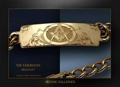 Freemason Ring, Masonic Jewelry, Rolex, Mens Gold Bracelets, Masonic Symbols, Freemasonry, Engraved Jewelry, Fantasy Weapons, Knights Templar