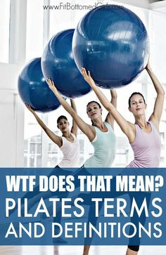 pilates workout routine Pilates Terms and Definitions Continuing with our WTF Does That Mean Series, lets talk Pilates! We break down some Pilates terms and fill you in on what the heck they mean. Pilates Workout Routine, Pilates Training, Pilates Body, Pilates Reformer Exercises, Pilates Barre, Pilates Video, Pilates Instructor, Pilates For Beginners, Pilates Studio
