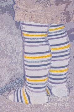 Little Feet-Yellow by Molly McPherson of Fine Art America