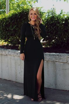 Side Slit Open Back Maxi Dress | UOIOnline.com: Women's Clothing Boutique