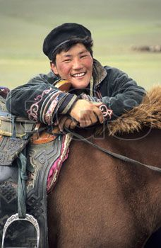 Mongolian herdsman with a great smile! (V)