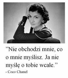 Zobacz zdjęcie Coco Chanel w pełnej rozdzielczości Life Advice, Good Advice, Some Quotes, Life Motivation, Coco Chanel, Cool Words, Life Lessons, Are You Happy, Quotations