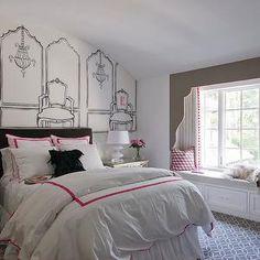Kids Window Seat, girl's room, Thompson Custom Homes