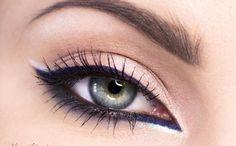 Хищный макияж в роозово-синих оттенках