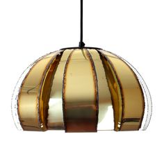 BRASS pendant by Werner Schou produced by his own company, Coronell in the 1970s. A medium sized pendant, clearly inspired by Holm Sorensens
