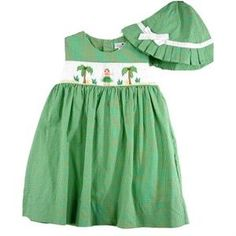 Baby girl's smocked outfit