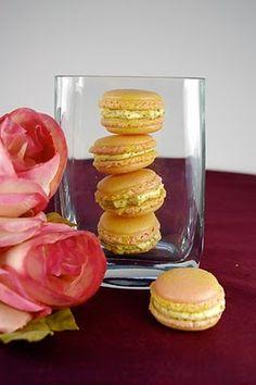 Tulip Macarons With Honey-Pistachio Mascarpone Cream Filling