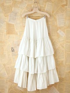 Vintage Long Tiered Skirt. on the site it's $248. i will make this with $12.