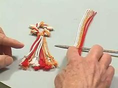 Watch how Linda Hendrickson uses a gripfid to make a ply-split star ornament. The structure for this ornament is SCOT (single-course oblique twining). You ne. Types Of Weaving, Weaving Art, Star Ornament, Xmas Ornaments, Macrame Patterns, Beading Patterns, Finger Weaving, Christmas Craft Fair, Braids With Weave