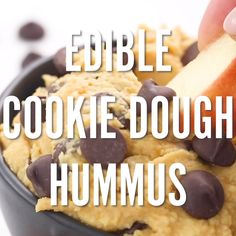 Have you ever had your kids request to eat more beans? You will if you serve them the best chocolate chip cookie dough kid friendly hummus recipe! My kids have eaten two batches of this in two days fo Dessert Hummus Recipe, Healthy Dessert Recipes, Healthy Kid Friendly Recipes, Kids Cooking Recipes Easy, Vegetarian Recipes, Kid Cooking, Kid Recipes, Kid Friendly Meals, Potato Recipes