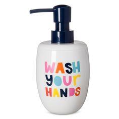 Wash Your Hands Soap Dispenser White & Navy - Pillowfort™ : Target