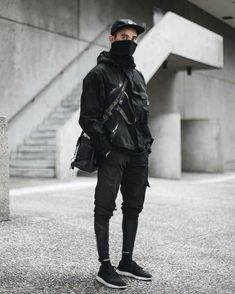 Fabulous Tips: Urban Wear Streetwear Menswear urban wear for men clothing.Urban Fashion Swag Prince urban fashion for men beards. Latest Mens Fashion, Mens Fashion Suits, Black Women Fashion, Dark Fashion, Fashion Night, Mode Cyberpunk, Cyberpunk Fashion, Cyberpunk Clothes, Urban Apparel
