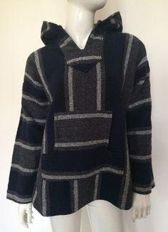 Kaufe meinen Artikel bei #Kleiderkreisel http://www.kleiderkreisel.de/damenmode/pullis-and-sweatshirts-hoodies/123675094-peyote-hoodie-pullover-pulli-kapuze-bauchtasche-blau-grau-gestreift-streifen-ethno-hippie-goa