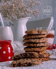 Csokoládés,kávés zabpelyhes kekszek   Bibimoni Receptjei Cereal, Breakfast, Biscotti, Food, Morning Coffee, Essen, Meals, Yemek, Cookie Recipes