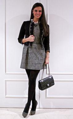 DIY: Collar de cadenas con perlas y charms  ,  in Jewelry, H in Jackets, Blanco in Dresses, Zara  in Heels / Wedges, Chanel in Bags