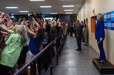 """PHOTO: BARBARA KINNEY–HILLARY FOR AMERICA  The Story Behind Hillary Clinton's Epic Group Selfie  """"Selfies gone wild,"""" says Barbara Kinney, Hillary Clinton's official photographer"""